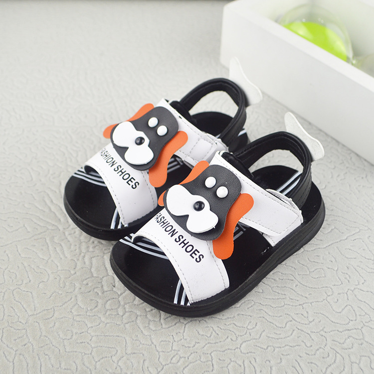 Cute cow printing leather sandals boys 2018 100% soft leather kids sandals boys beach shoes kids sport sandals