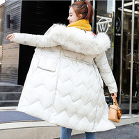 Faux Fur Parkas Women Down Jacket plus size 3XL New 2019 Winter Jacket Women Thick Snow Wear Winter Coat Female Jackets Parkas