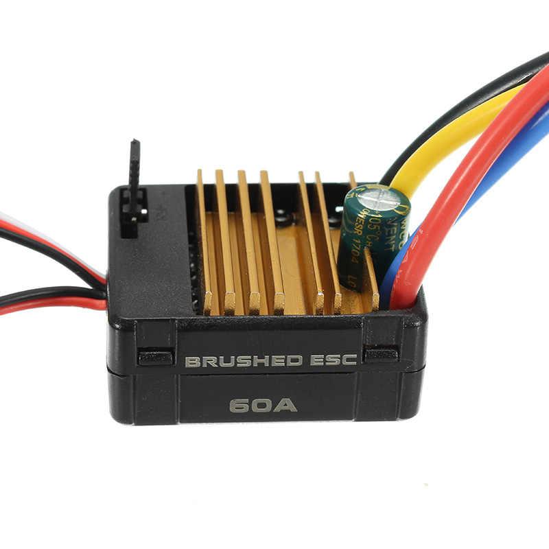 540 Motor 60A ESC carbón cepillado 1/10 RC orugas eje 3.175mm RC piezas de coche