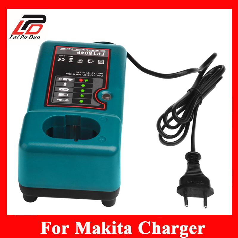 For MAKITA Replacement battery Charger 7.2V 9.6V 12V 14.4V 18V NI-MH NI-CD Battery DC1804 DC1414T DC1414F 9100A 9001 bcl1415 14 4v ni cd ni mh battery for hitachi bcl1415 18v ni cd ni mh battery
