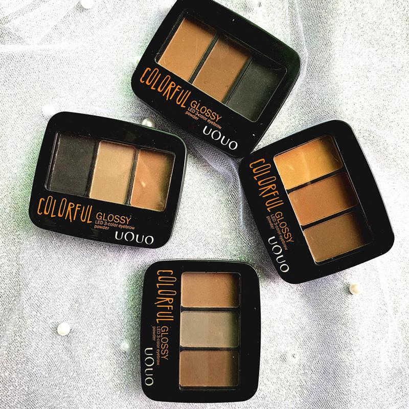 4 Color Eyebrow Powder Palette Cosmetic Brand Eye Brow Enhancer Professional Waterproof Makeup Eye Shadow With Brush Mirror Box
