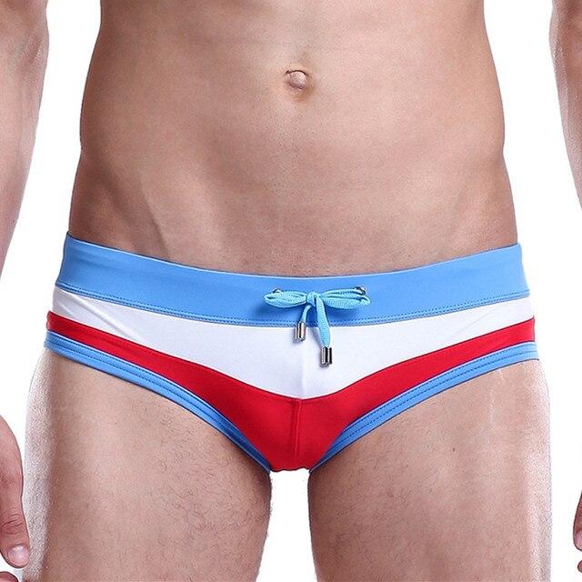 bada09a6d2 Men's Swimming Trunks For Swimming 2018 New Mens Bathing Suit Beach  Patchwork Swimwear Men Sexy Swim Briefs Maillot De Bain