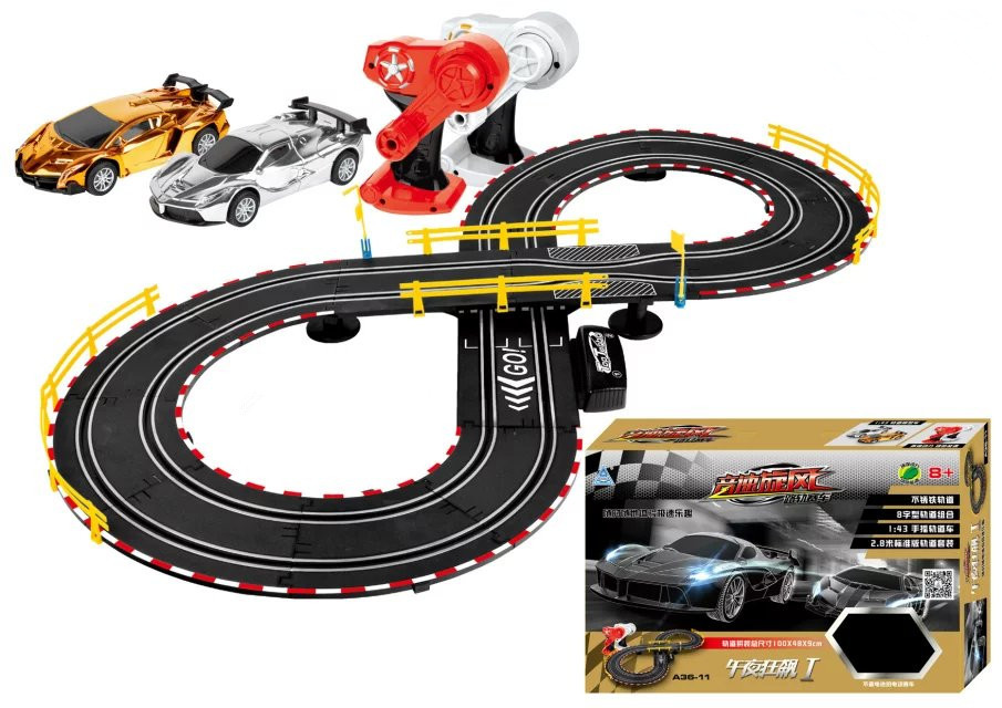 high track racing car games slot toys electric rail car slot toys for children and parents