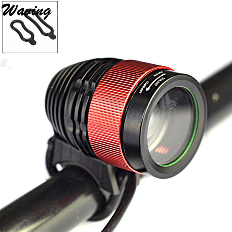 1PC Bike Headlight 2017 2in1 7500 LM T6 LED Zoomable Focus Bike Bicycle Light Headlamp Head Torch Jan 24