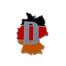 Aluminum Germany Map Car Sticker Logo Emblem Badge for Audi BMW VW Skoda