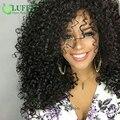 Luffy cabelo humano dianteira do laço curly perucas para as mulheres negras 13x6 Brasileiro virgem Encaracolado Peruca Dianteira Do Laço Com Cabelo Do Bebê Nós Descorados
