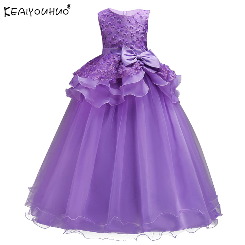 Princess Dress New Summer Girls Wedding Dress Children Clothing 5-14 Years Brand Party Kids Dresses For Girls Costumes Vestidos 2016 new girls dress cotton summer style sleeveless children dress party dresses for 2 7 years kids toddler vestidos kf509