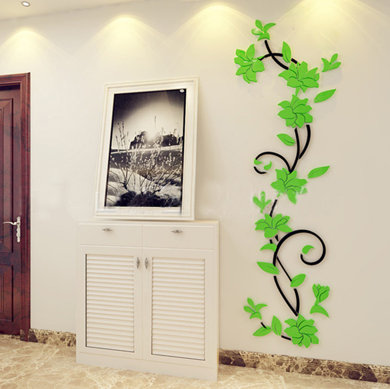 12PCS 3D Flower Sticker Art Design Decal Wall Sticker Home Decor Room Decor Surp