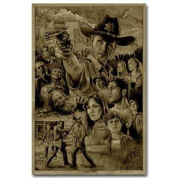 Плакат гобелен шелковый Ходячие мертвецы вариант 3
