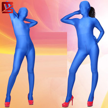 MEISE Bodysuit Cosplay Lycra Shiny Full Body Candy Color Stockings Sexy Pantyhose Open Crotch Plus Size Erotic Lingerie