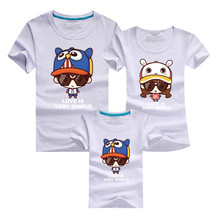 Family Set 2016 Men Funny T Shirt Harajuku Sport Gym Pink Uk Skate Tshirt Homme Polera Cartoon T-shirt Mommy and Me Kids Clothes