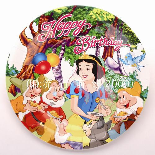 10pcs/Lot 7inch cookies candy food  bread cake fruit cartoon plates  sc 1 st  AliExpress.com : snow white paper plates - pezcame.com