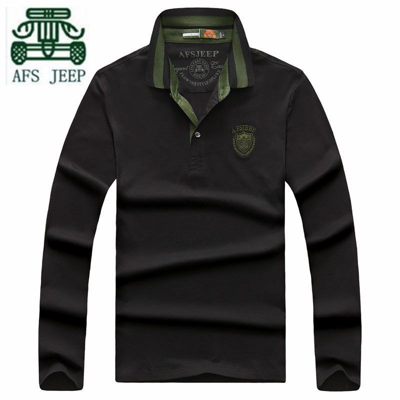AFS JEEP Hot Sale 2016 Autumn Man s Casual Cotton Thick font b Polo b font