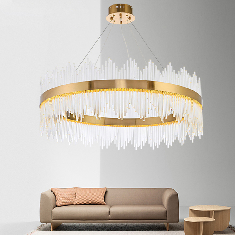 Modern LED Ring Chandelier Light LED Hanging Drop Lamp For Dining Room LED lamparas circle chandeliers Lighting For Home