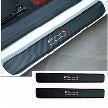 4pcs/set Carbon Fiber Vinyl Sticker for Fiat 500C