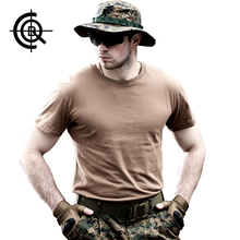 CQB Tactical Mens T-shirts Physical Brand Clothing Slim Fit Training Top Outdoor Military Trekking Camping Cotton Tee MT0063