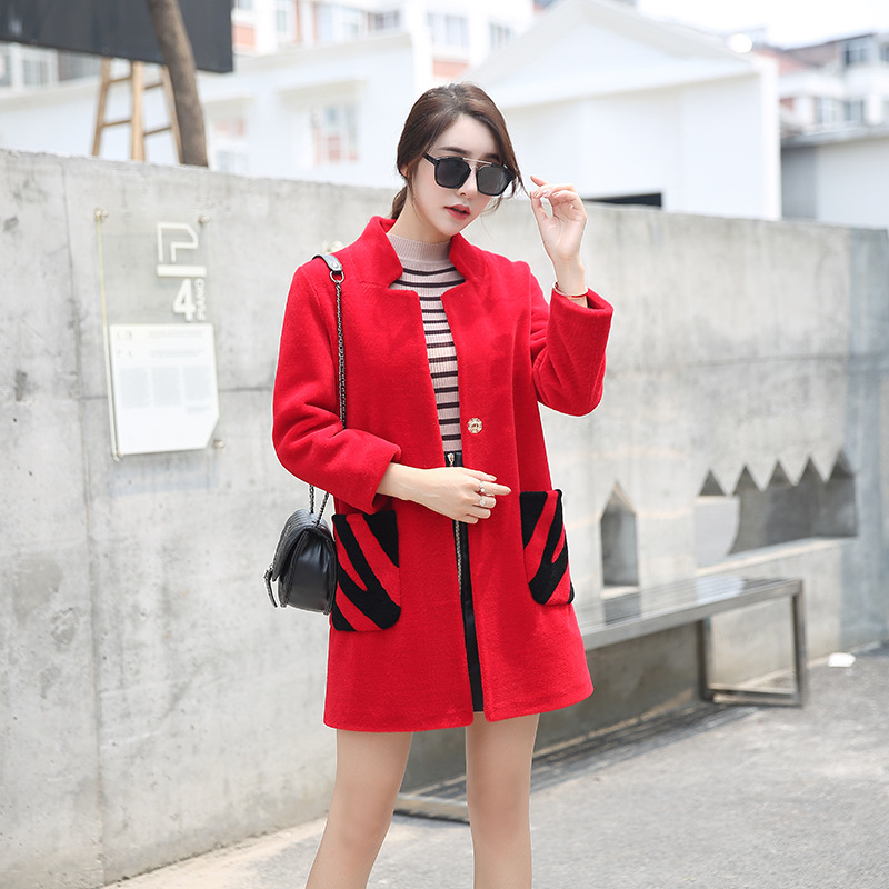 New Arrival Wool Parka Coat Water Ripple in the Long Section of Fur Coat Promotion Was Thin Body Repair Coat 2017 winter new clothes to overcome the coat of women in the long reed rabbit hair fur fur coat fox raccoon fur collar