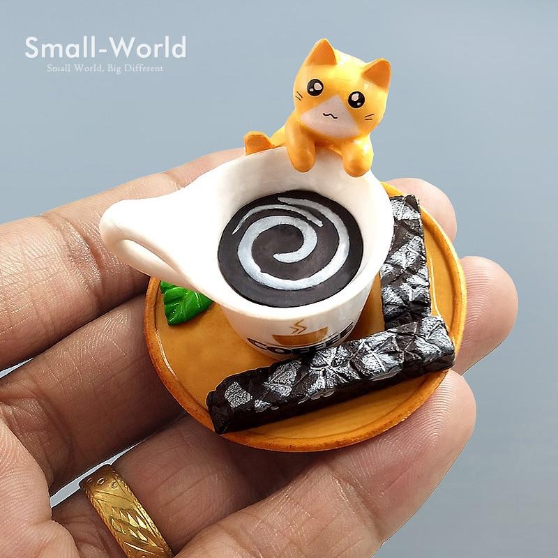 arte de la resina de dibujos animados lindo gato musgo micro mundo bonsai jardn pequeo adorno