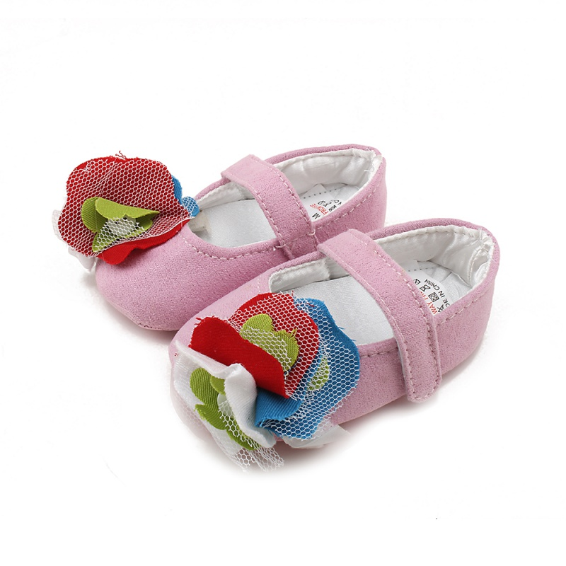 Festival flower newborn infant baby girls first walkers kid bebe sapato jane shoes Hot 0-18M