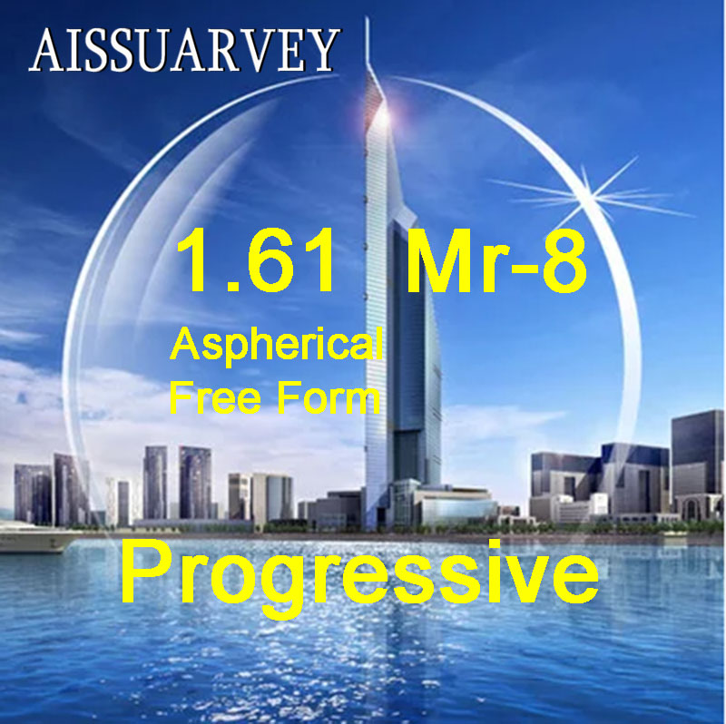 1 61 Index Asph Free Form Progressive Clear Lenses MR 8 Multifocal Bofical Top Quality Thin