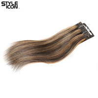 Styleicon Brazilian Straight Hair Human Hair Bundles 12 Inch 1 Piece Deal Piano Blonde Non Remy Hair Weave Bundles Extension