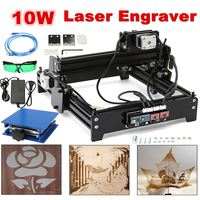 20 X 14 Cm Engraving Area 10W USB Desktop Metal Stone Wood CNC Laser Engraver Marking