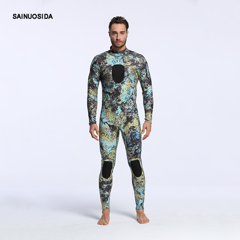 Diving Suit For Men Spearfishing 3mm Neoprene Underwater Hunting Wetsuit Camouflage Swimsuit Scuba Dive Swimwear  MY005 men s winter warm swimwear rashguard male camouflage one piece swimsuit 3mm neoprene wetsuit man snorkeling diving suit