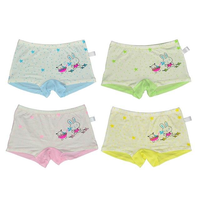 4beb363cf 4 Pieces / Pack children's modal underwear female cartoon printed baby  bunny girls underwear boxer briefs kids panties wholesale
