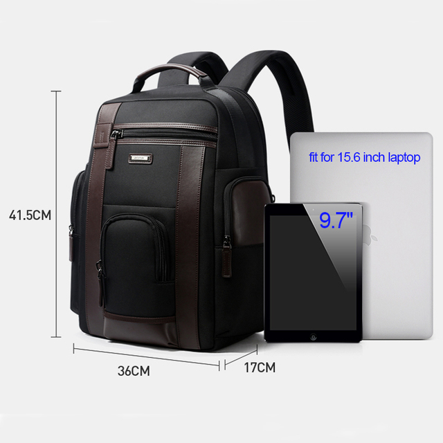 BOPAI Multifunction Large Capacity Laptop Backpack Anti Theft Fashion Men Shoulders Bag Travel Backpack Waterproof Drop Shipping 5