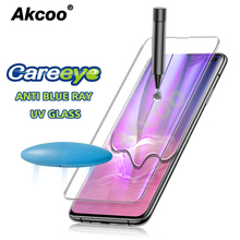 Akcoo S10 Plus Screen Protector with Anti Blue light for Samsung S8 9 Note 8 UV Glass full cover film protect eyes