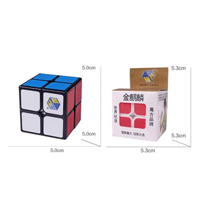 Or Kylin Kirin 2x2x2 haute vitesse Cube magique torsion Puzzle jouet casse-tête 3D IQ jeu Ultra-lisse 2x2 Yuxin 2*2*2*2 multicolore