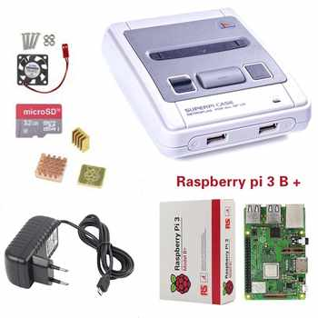 Retroflag SUPERPi CASE-J NESPi ケース + ラズベリーパイ 3 モデル B/B + キット + 5V 3A 電源 + 16/32 ギガバイトのカード + ヒートシンク + ファンのためのラズベリーパイ 3B