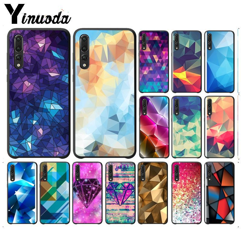 Yinuoda Retail Geometric <font><b>Diamond</b></font> Abstract Purple Soft silicone Phone Cover For <font><b>huawei</b></font> <font><b>p20</b></font> p20lite nova 3i mate20 pro <font><b>case</b></font> image