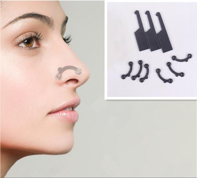 6PCS/Set 3 Size Beauty Nose Up Lifting Bridge Shaper Massage Tool No Pain Nose Shaping Clip Clipper Women Girl Massager