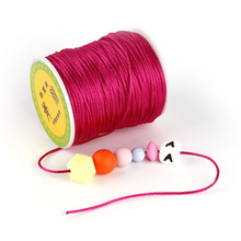 TYRY.HU Colorful 80 Meters Satin Silk Rope Nylon Cord For Baby Teether Accessori