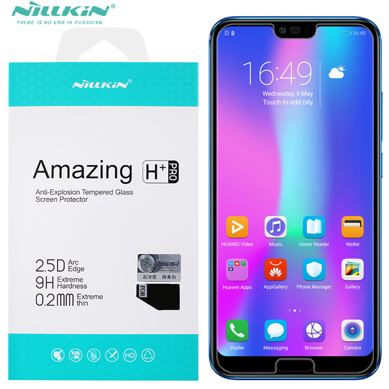 nillkin 0.2mm nano tempered glass For huawei honor 10 screen protector + camera film for huawei honor10 honor 10