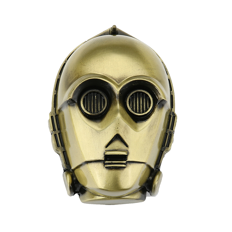 Bronze Star Wars C3-Po Head Belt Buckle