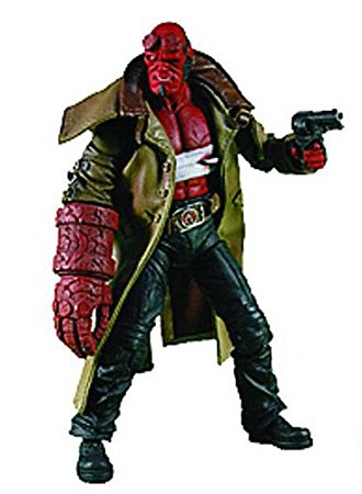 New Mezco Hellboy 2 The Golden Army Series 2 Wounded Hellboy Samaritan Handgun 7.5 Action Figure image