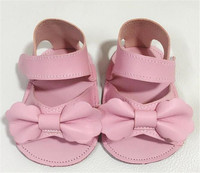 2017 New Hot Genuine Leather Summer Rubber Sole Fashion Pink White Bow Butterfly Kont Baby Moccasins