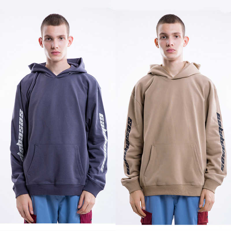 828a34ad6 Solid Thick CALABASAS Hoodies Men Embroidery Logo Oversize High Street  Rocky Hip Hop Sports Kanye West