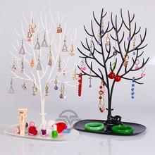 Высокое качество Пластиковые Ювелирные Изделия Дисплей ожерелье из дерева Дисплей Подставка для браслетов витрина серьги висячая подставка держатель ювелирных изделий витрина