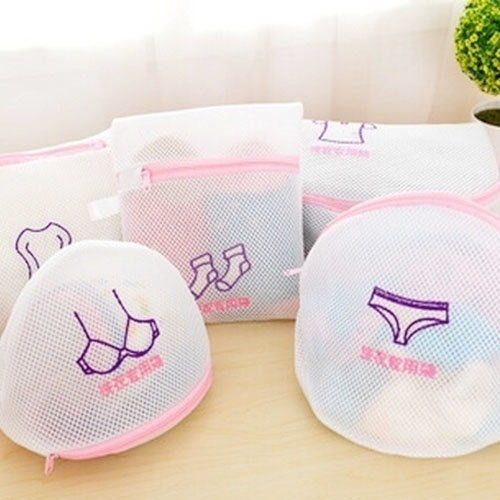 5 Pcs/set Reusable Laundry Mesh Clothes Washing Bags Underware Washing Bags Protect Wash Bag For Bra Sock Wash Bag New