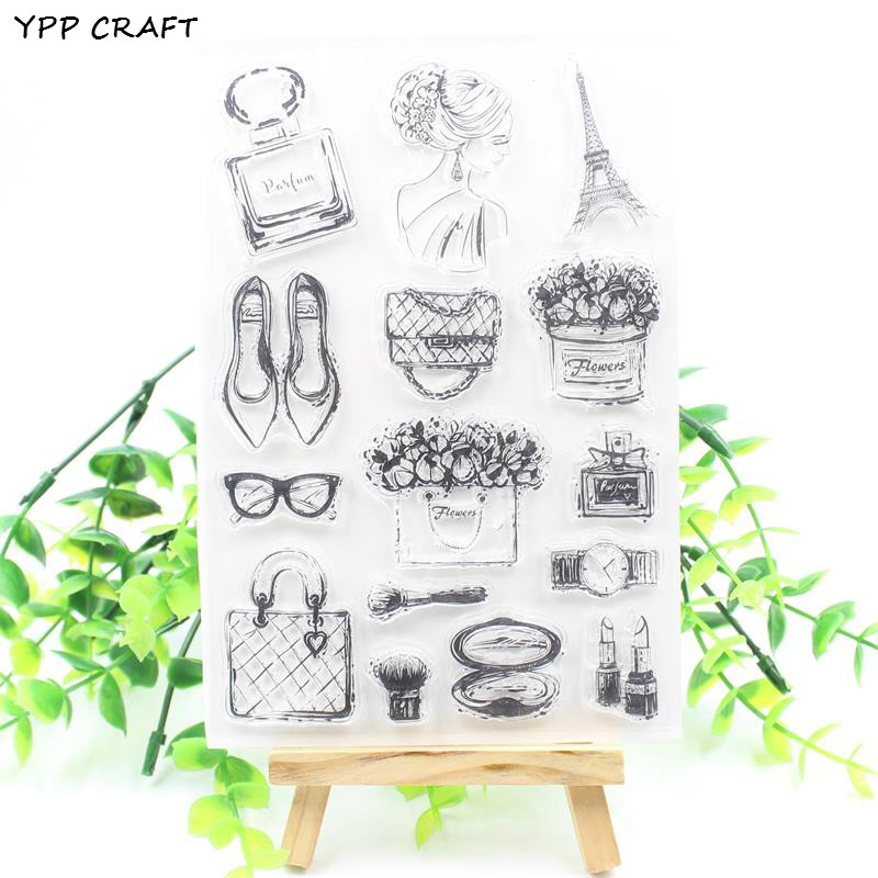 YPP CRAFT Cosmetic Transparent Clear Silicone Stamps for DIY Scrapbooking/Card Making/Kids Christmas Fun Decoration Supplies ypp craft post card transparent clear