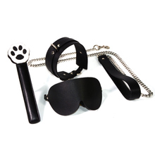 PU BDSM Bondage Flogger Choker Whips Adult Games Pu Leather Spanking Sex Couples Game Mask Metal Chains SM Tool Kits