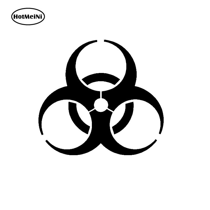 HotMeiNi Car Sticker Black/Sliver Zombie Outbreak Response Team V1 Sticker Decal Vinyl The Walking Dead Biohazard 13*13cm halloween decor sticker 3d transparent car back rear window decal vinyl sticker horror monsters zombie