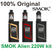 100% Original Smok Alien Kit with 3ml TFV8 Baby Tank Atomizer and SMOK Alien 220W Box Mod Electronic Cigarette Vape Kit