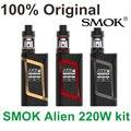 100% original 220 w smok kit alienígena com tfv8 smok atomizador tanque do bebê & caixa alienígena smok mod & baby-q2 baby-t8 core & v8 v8 núcleo