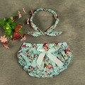 Adorável bonito Ruffled matched headband Baby Girl Ruffle Bloomer Princesa Pettiskirt Bloomer Calcinhas Diaper