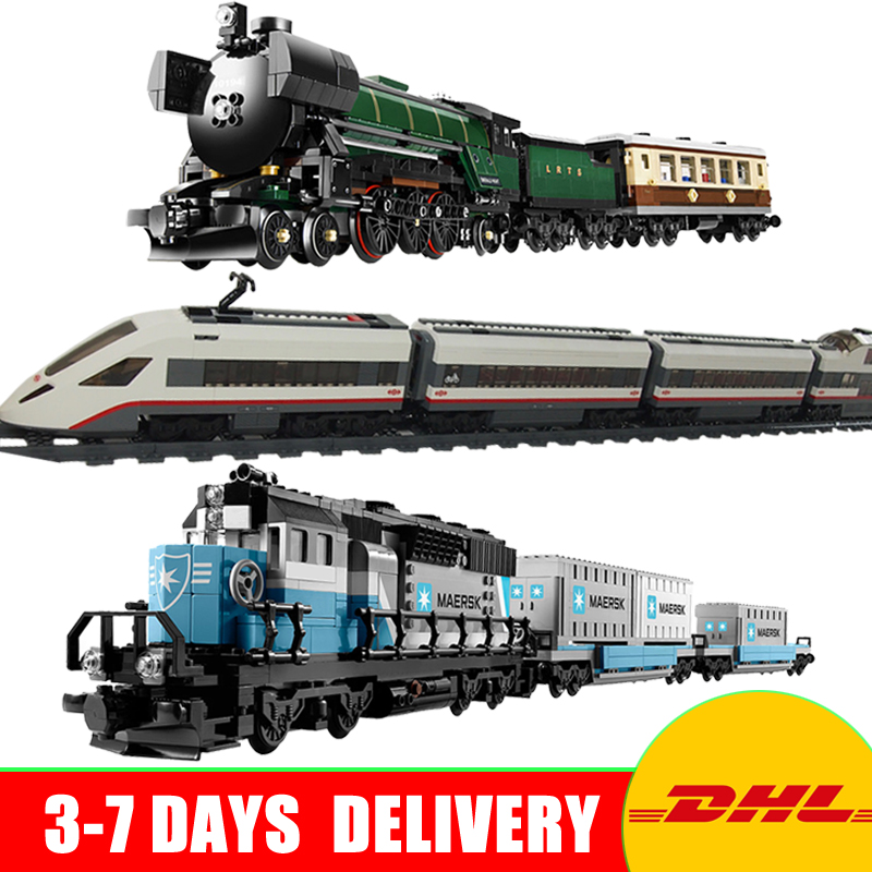2018 DHL Lepin21005 + 21006 +02010 Genuine Technic Ultimate Series The Maersk Train Set Building Blocks Bricks Educational