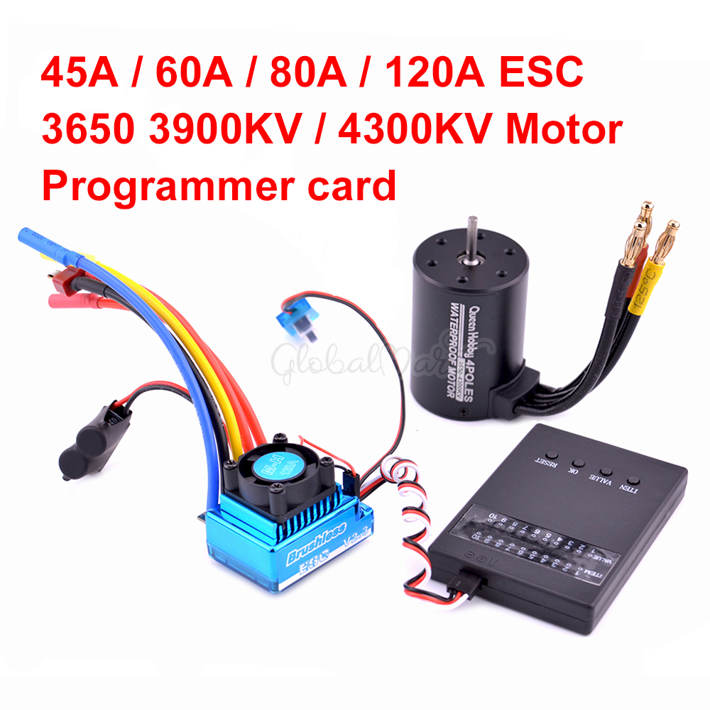 3650 3900kv 4300kv Brushless Motor / 45A 60A 80A 120A Brushless ESC Electric Speed Controller Dust-proof For 1:10 1/10 RC Car(China)